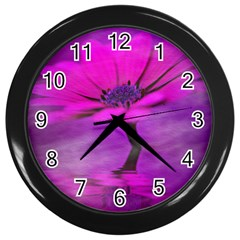 Osterspermum Wall Clock (black) by Siebenhuehner