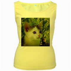 Young Cat Womens  Tank Top (yellow) by Siebenhuehner