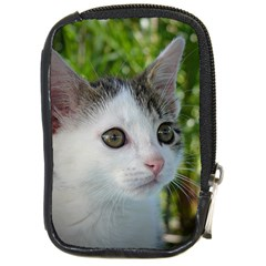 Young Cat Compact Camera Leather Case by Siebenhuehner