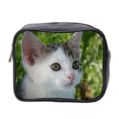 Young Cat Mini Travel Toiletry Bag (two Sides) by Siebenhuehner