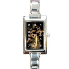 Chain Rectangular Italian Charm Watch by Siebenhuehner