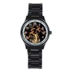 Chain Sport Metal Watch (black) by Siebenhuehner