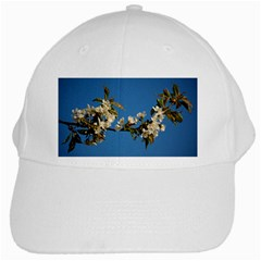 Cherry Blossom White Baseball Cap