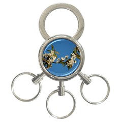 Cherry Blossom 3 Ring Key Chain by Siebenhuehner