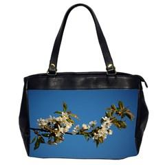 Cherry Blossom Oversize Office Handbag (two Sides)
