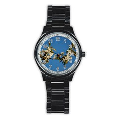 Cherry Blossom Sport Metal Watch (black)
