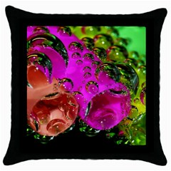 Tubules Black Throw Pillow Case by Siebenhuehner