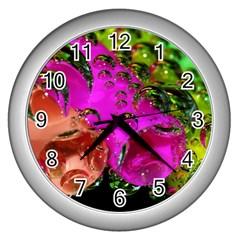 Tubules Wall Clock (silver) by Siebenhuehner