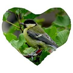 Songbird 19  Premium Heart Shape Cushion