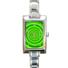 Modern Art Rectangular Italian Charm Watch by Siebenhuehner