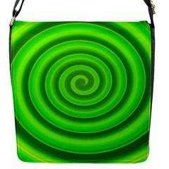 Modern Art Flap Closure Messenger Bag (small) by Siebenhuehner