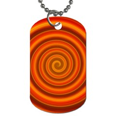 Modern Art Dog Tag (two Sided)  by Siebenhuehner