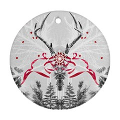 Christmas Collage Round Ornament (two Sides) by Contest1764179