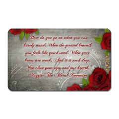Maggie s Quote Magnet (rectangular) by AuthorPScott