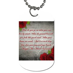 Maggie s Quote Dog Tag (two Sided)  by AuthorPScott