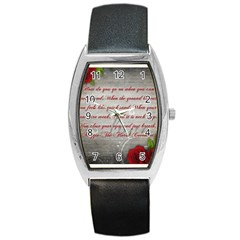 Maggie s Quote Tonneau Leather Watch by AuthorPScott