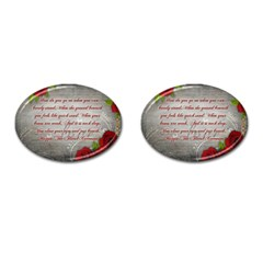 Maggie s Quote Cufflinks (oval) by AuthorPScott