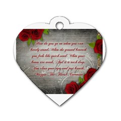 Maggie s Quote Dog Tag Heart (two Sided) by AuthorPScott