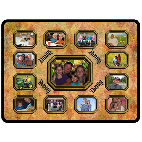 Family Collage Large Blanket By Joy Johns   Fleece Blanket (large)   Xkv4b2bn11wk   Www Artscow Com 80 x60 Blanket Front