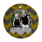 Round Chevron Heart  - Ornament (Round)