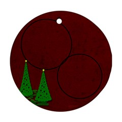 Christmas Trees Ornament By Amanda Bunn   Round Ornament (two Sides)   W1mmjygcbwi6   Www Artscow Com Front