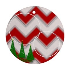 Christmas Trees 2 Side By Amanda Bunn   Round Ornament (two Sides)   Xw39f4bks1el   Www Artscow Com Back