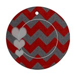 Chevron 2 sided Round - Round Ornament (Two Sides)