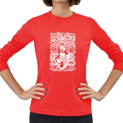 Form Of Auspiciousness Womens' Long Sleeve T Shirt (dark Colored) by doodlelabel