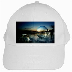 Magic Balls White Baseball Cap by Siebenhuehner