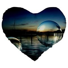 Magic Balls 19  Premium Heart Shape Cushion