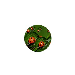 Ladybird 1  Mini Button Magnet by Siebenhuehner