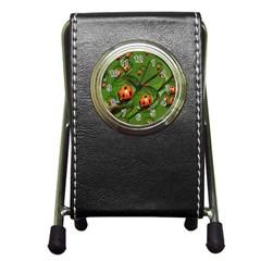Ladybird Stationery Holder Clock by Siebenhuehner
