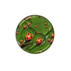Ladybird Golf Ball Marker (for Hat Clip) by Siebenhuehner