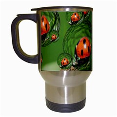 Ladybird Travel Mug (white) by Siebenhuehner