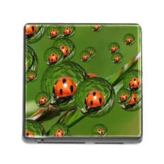 Ladybird Memory Card Reader With Storage (square) by Siebenhuehner
