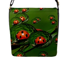 Ladybird Flap Closure Messenger Bag (large)