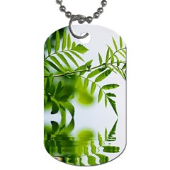 Leafs With Waterreflection Dog Tag (one Sided)