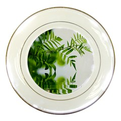 Leafs With Waterreflection Porcelain Display Plate