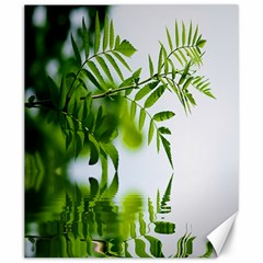 Leafs With Waterreflection Canvas 20  X 24  (unframed) by Siebenhuehner