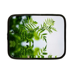 Leafs With Waterreflection Netbook Case (small) by Siebenhuehner