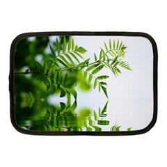 Leafs With Waterreflection Netbook Case (medium)