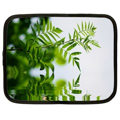 Leafs With Waterreflection Netbook Case (large) by Siebenhuehner