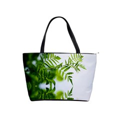 Leafs With Waterreflection Large Shoulder Bag