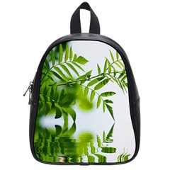 Leafs With Waterreflection School Bag (small) by Siebenhuehner