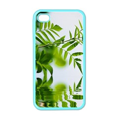 Leafs With Waterreflection Apple Iphone 4 Case (color) by Siebenhuehner