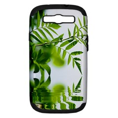 Leafs With Waterreflection Samsung Galaxy S Iii Hardshell Case (pc+silicone) by Siebenhuehner
