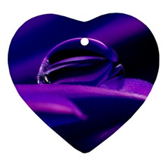Waterdrop Heart Ornament (two Sides) by Siebenhuehner