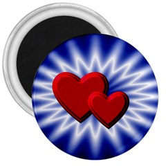 Love 3  Button Magnet by Siebenhuehner