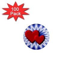 Love 1  Mini Button Magnet (100 Pack) by Siebenhuehner