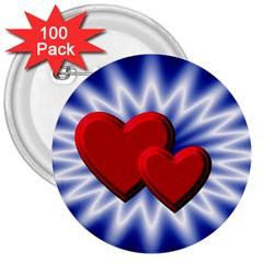 Love 3  Button (100 Pack) by Siebenhuehner